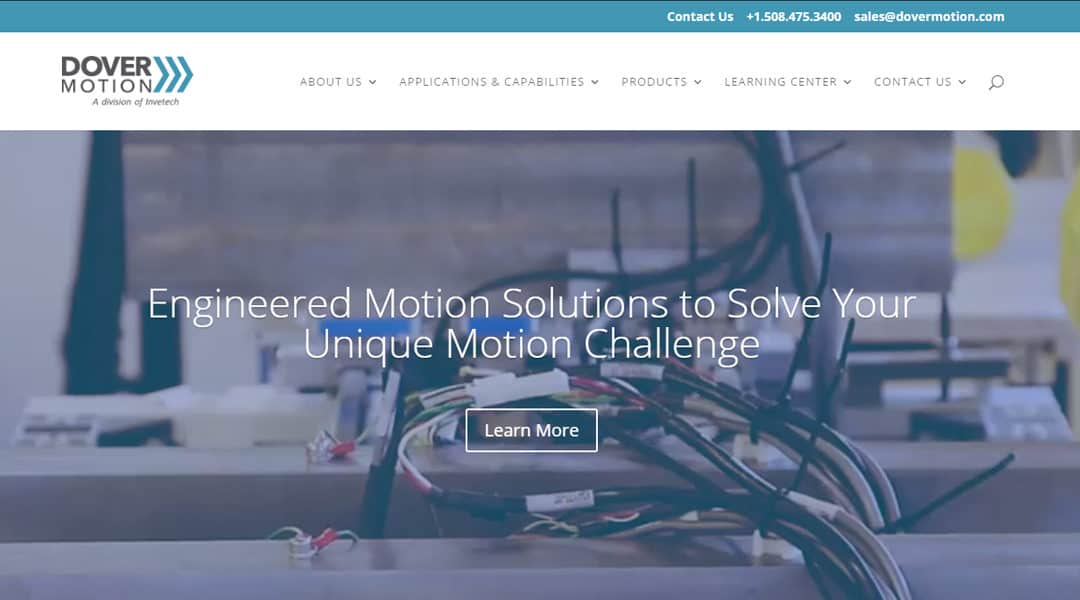 Dover Motion Launches new Website