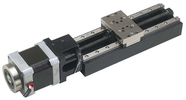 KV compact linear stages with a stepper motor
